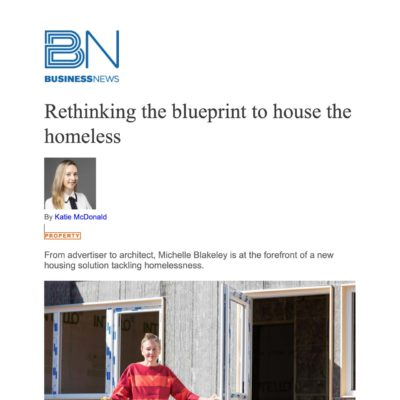 Rethinking the Blueprint to House The Homeless - Business News
