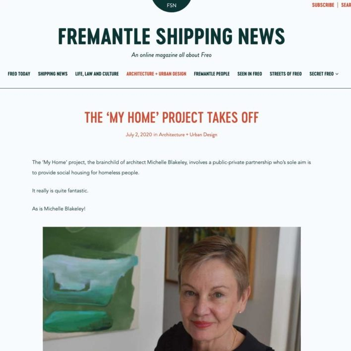 My Home Project Takes Off - Fremantle Shipping News